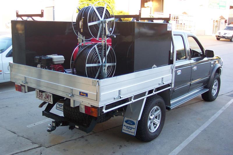 custom vehicle spray unit