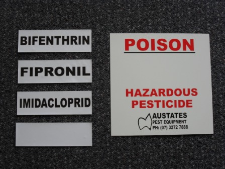 Poison Sign pest control safety accessories