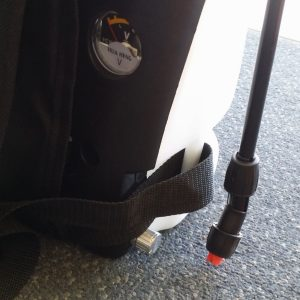 Apex electric sprayer Knapsack with 12 volt pump side
