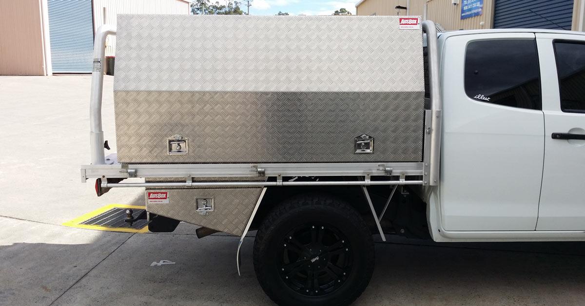Ute toolbox for apprentice carpenter