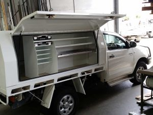 Ausbox manufactured for a local company that are diesel engine repair specialists.