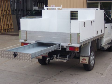 Tool boxes for utes designed and built by Austates.