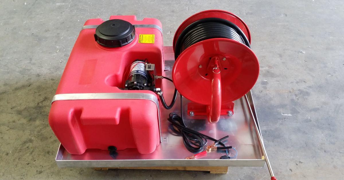 Red Spray Tank